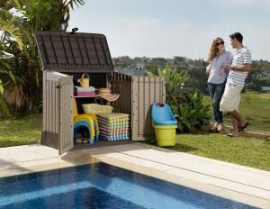 Armoire de jardin plastique, idéal pour le rangement en extérieur