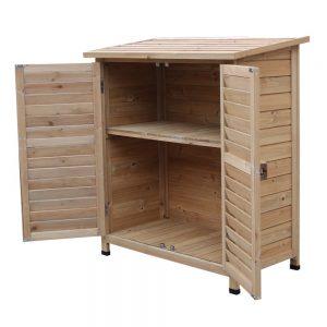 Armoire de jardin basse en bois | Armoire de jardin